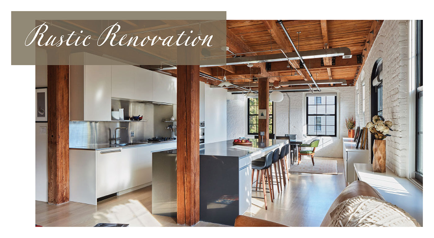 Rustic industrial loft renovation by Catherine Truman Architects