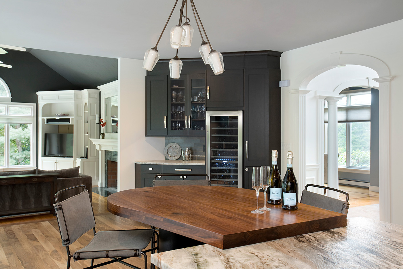 Roomscapes Cabinetry and Design Center contemporary kitchen and wine bar transformation