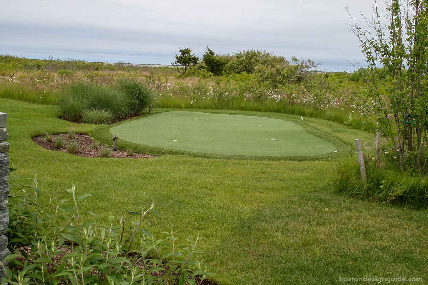 Residential putting green designed by Sudbury Design Group
