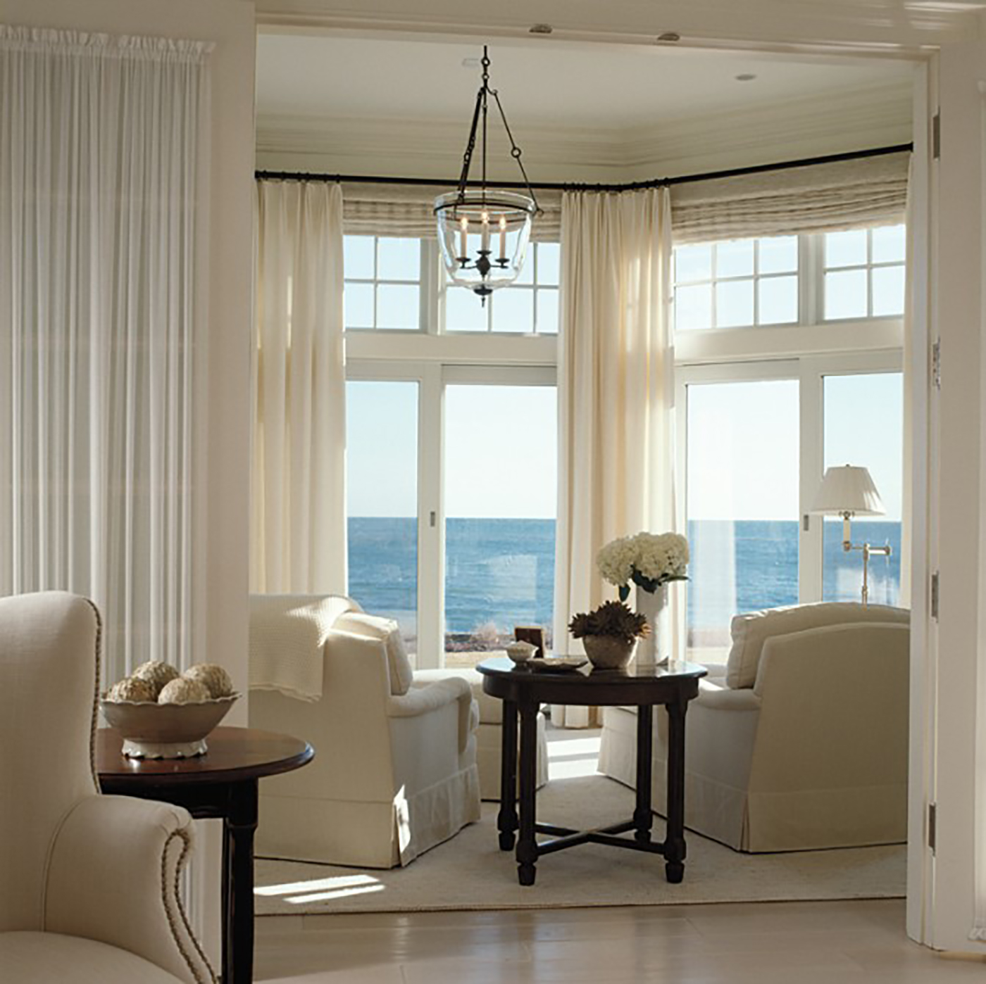 High end sitting room by the ocean
