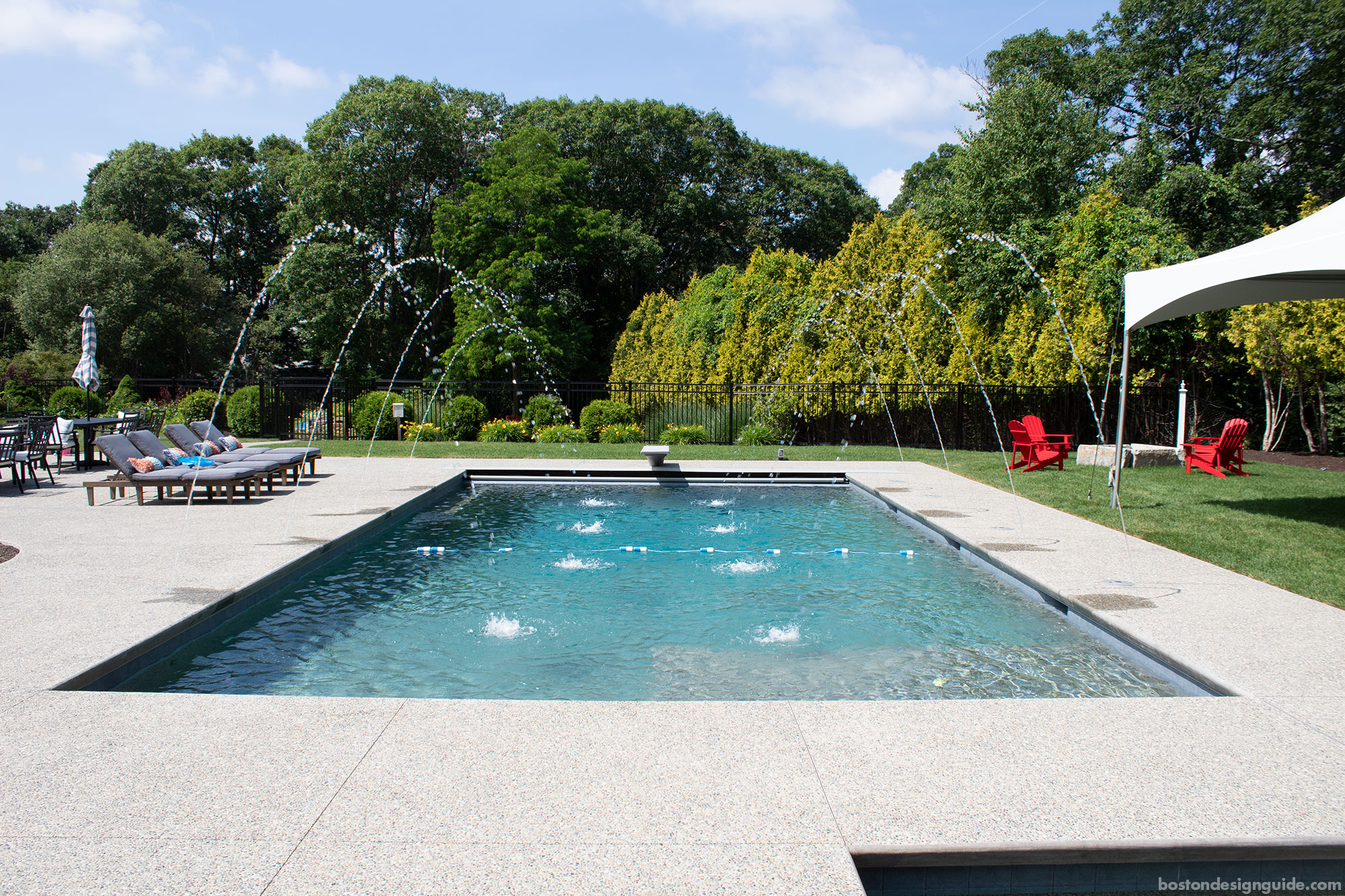 Inground gunite pool by SSG Pools