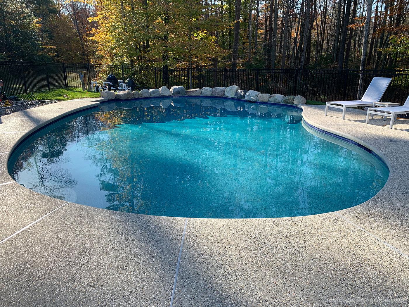 Custom gunite pool by New England pool company SSG Pools & Spas