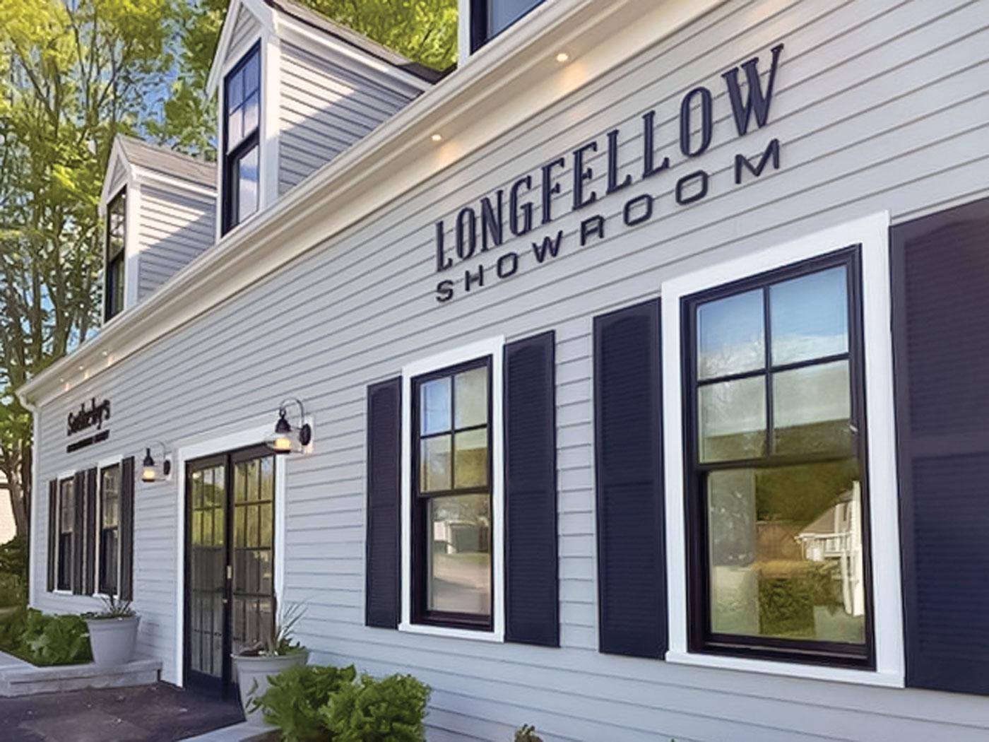 Outside view of Longfellow showroom in Sandwich MA