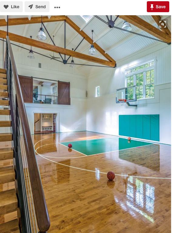 Indoor Basketball Court in Farm House