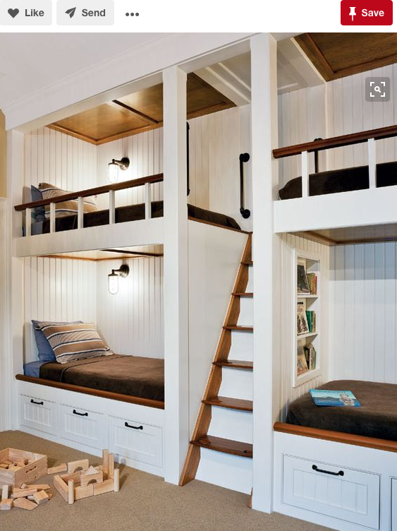 Childrens bunk room at a cape cod vacation home