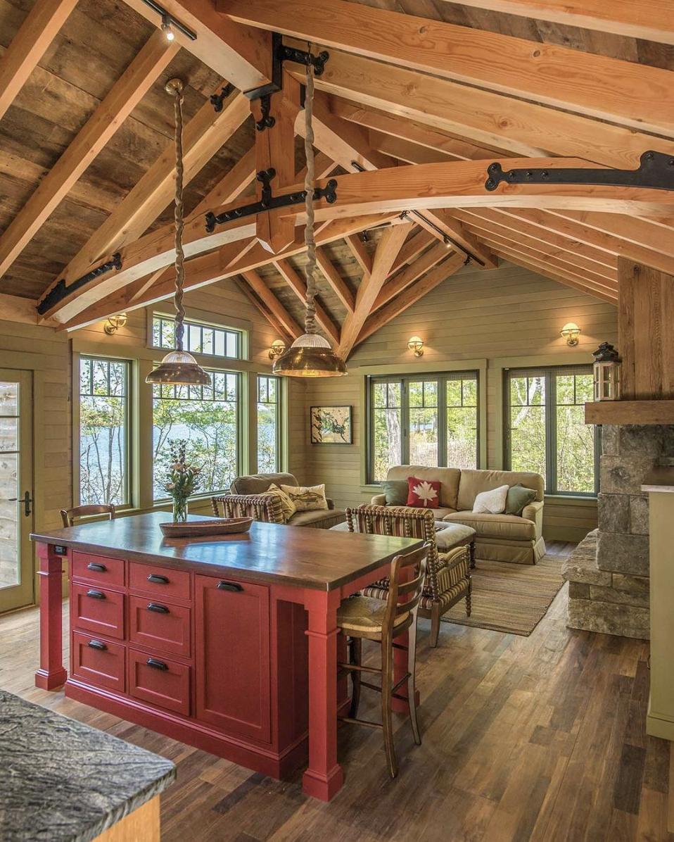 Lake Life Living Dream Home Custom Builder New England Cabin Home Design