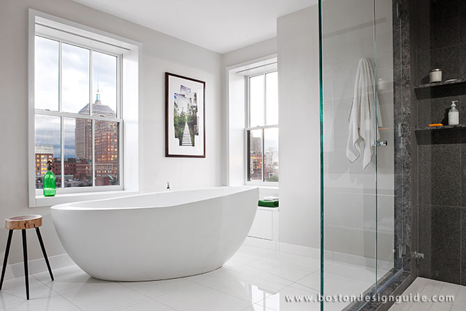 High-end master bathroom