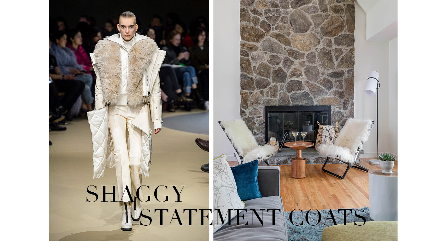 Fall Fashion in the Home, Shaggy Statement Coats