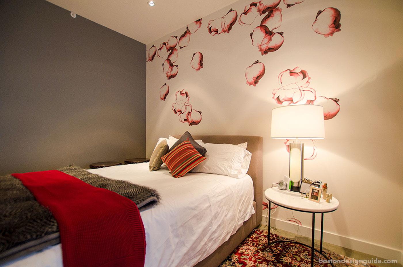 Cozy red bedroom by Sleeping Dog Properties, Inc