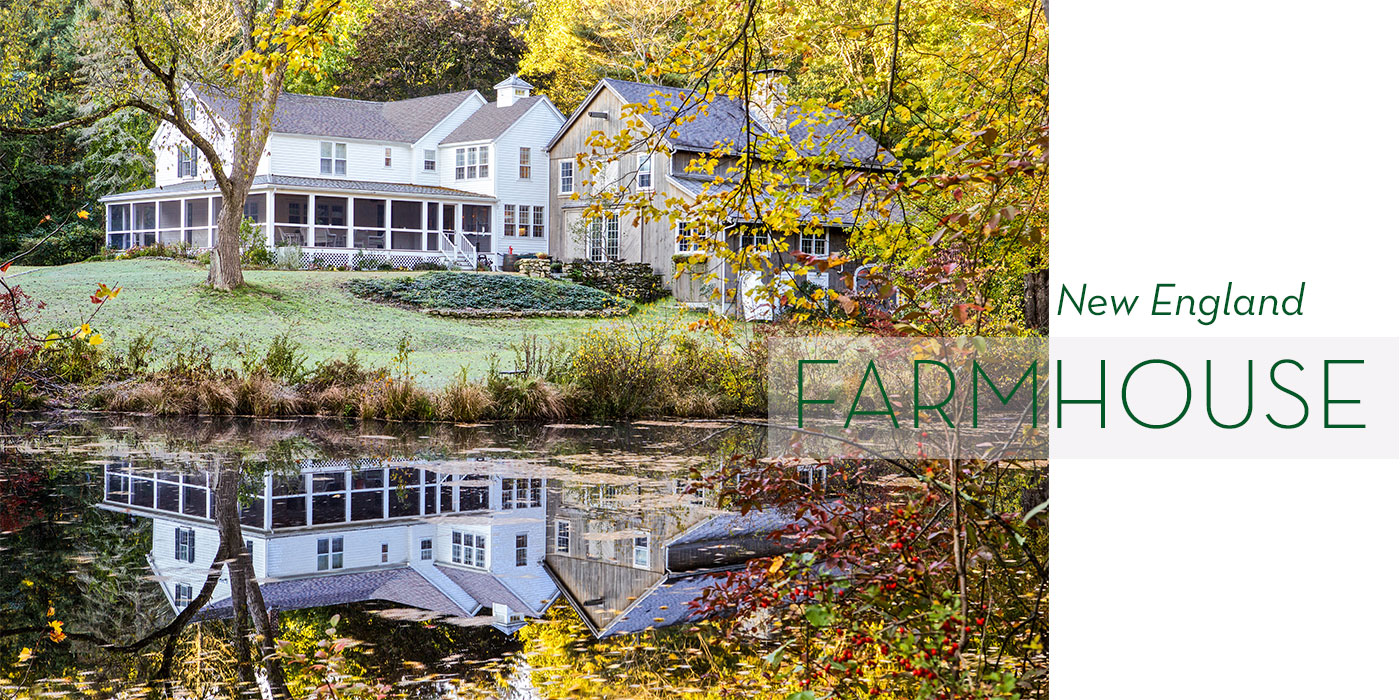 Farmhouse-style waterfront home designed by Slocum Hall Design Group