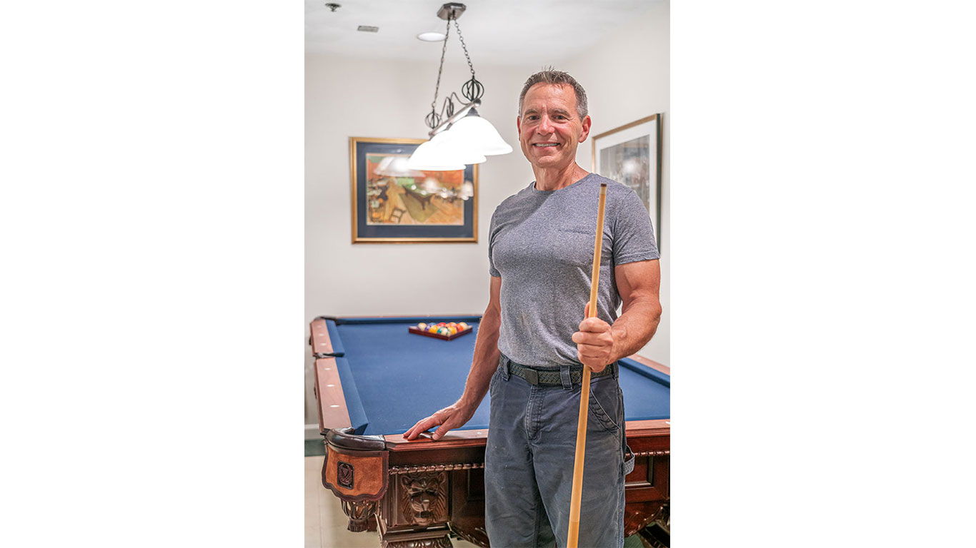 Owner Stephen Kelly of Boston Billiard Emporium