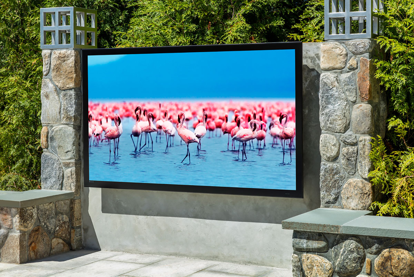 High-end outdoor TVs