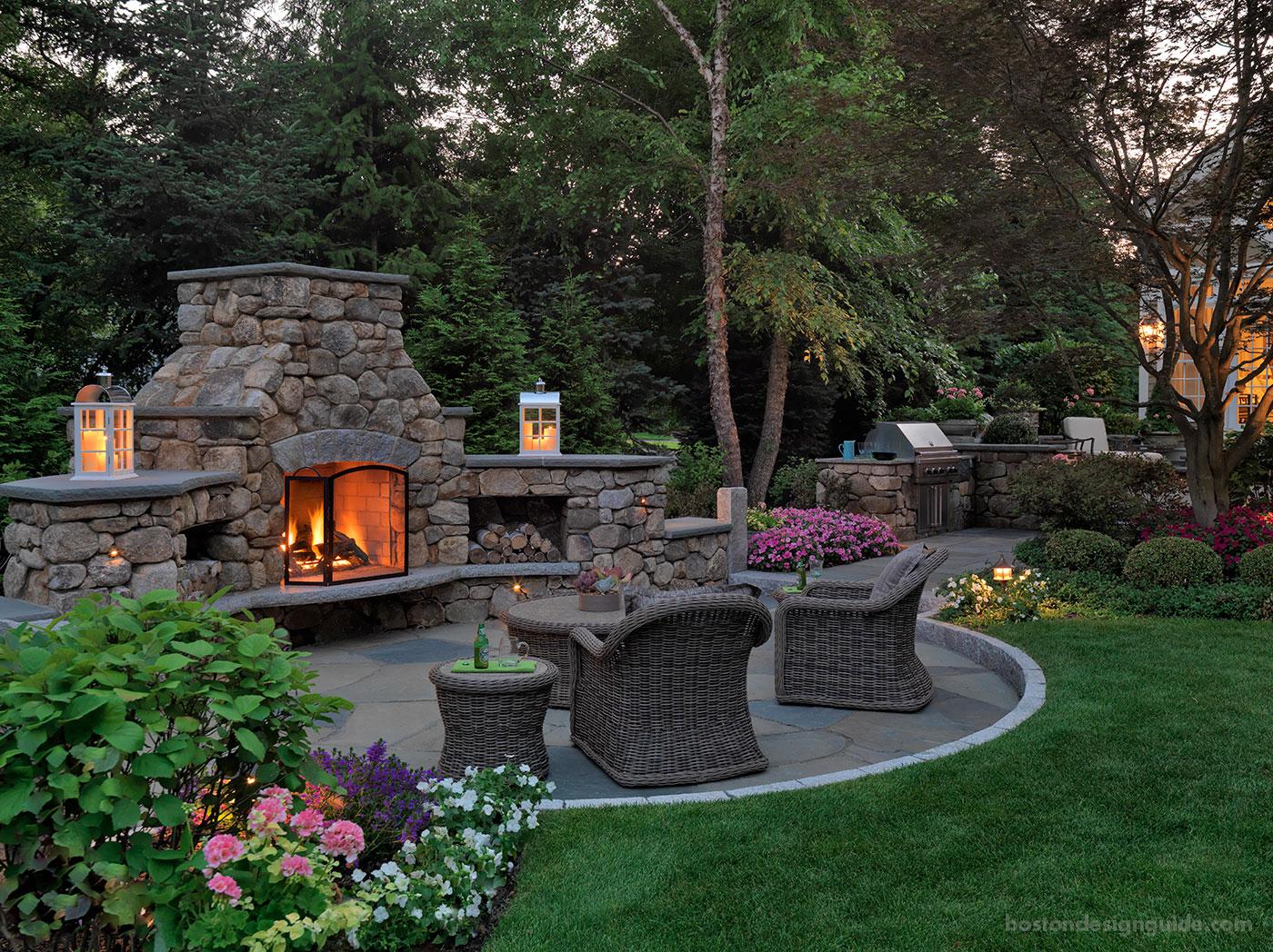 Custom fireplace design by Sudbury Design Group