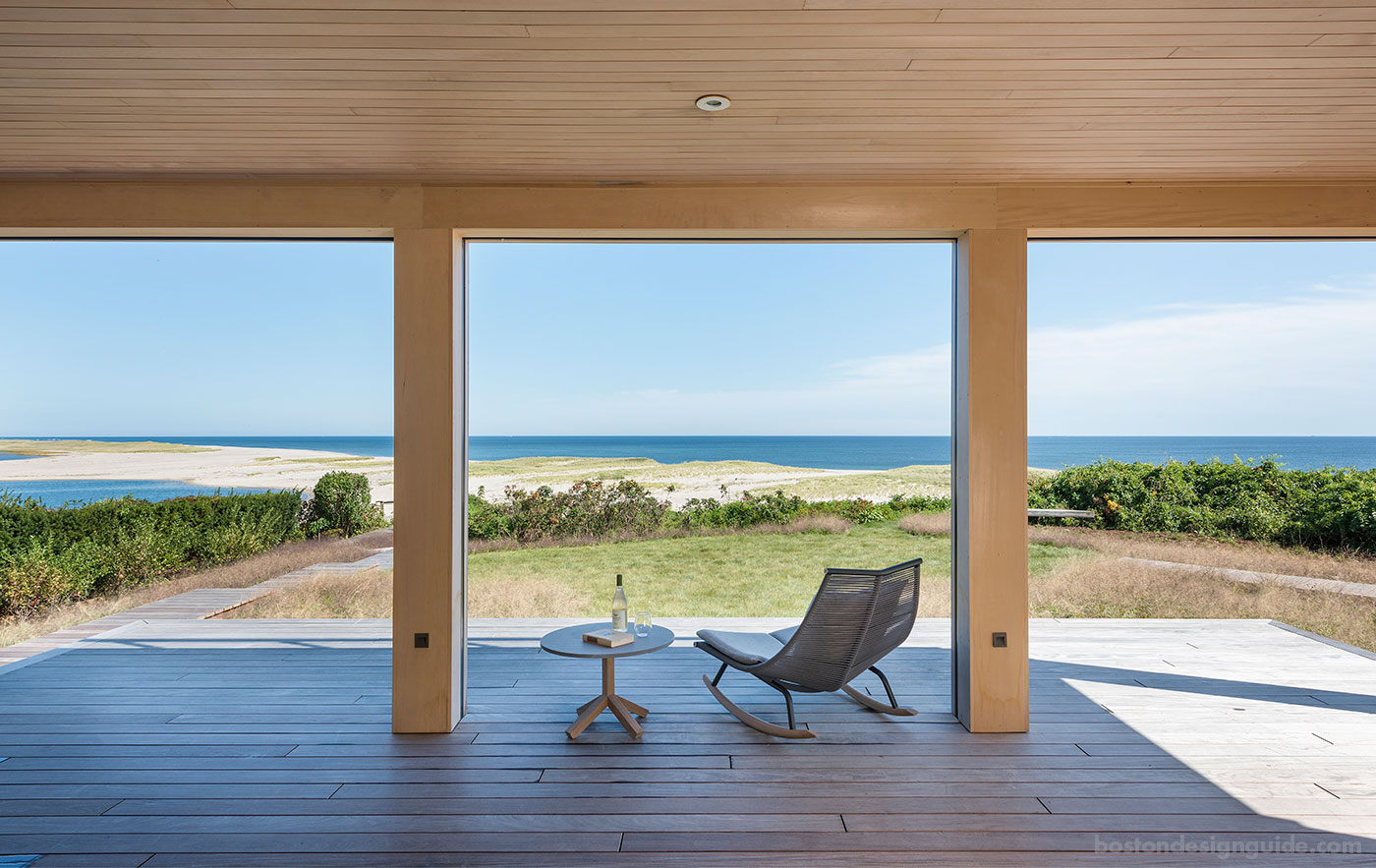 Oceanview from private deck of a modern Cape Cod beach home