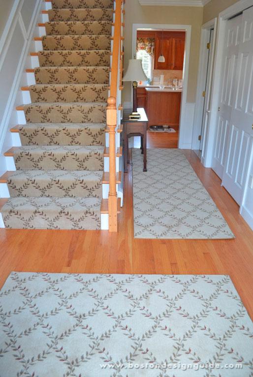Custom Stair Runner Made From Wool Carpet Remnant In Norfolk