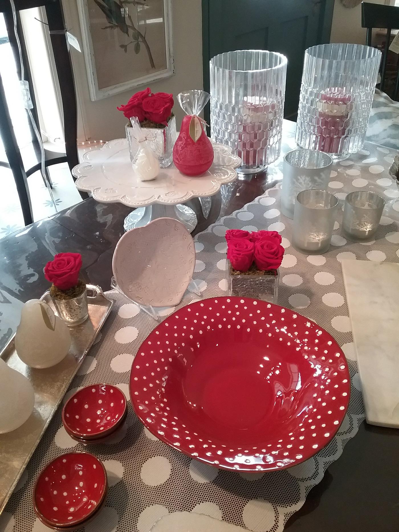 Valentine's Day tableware