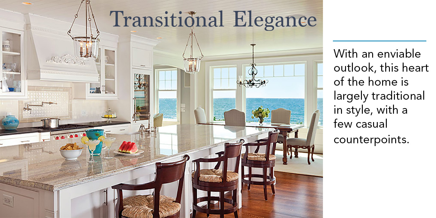 Coastal Kitchen, Transitional Style