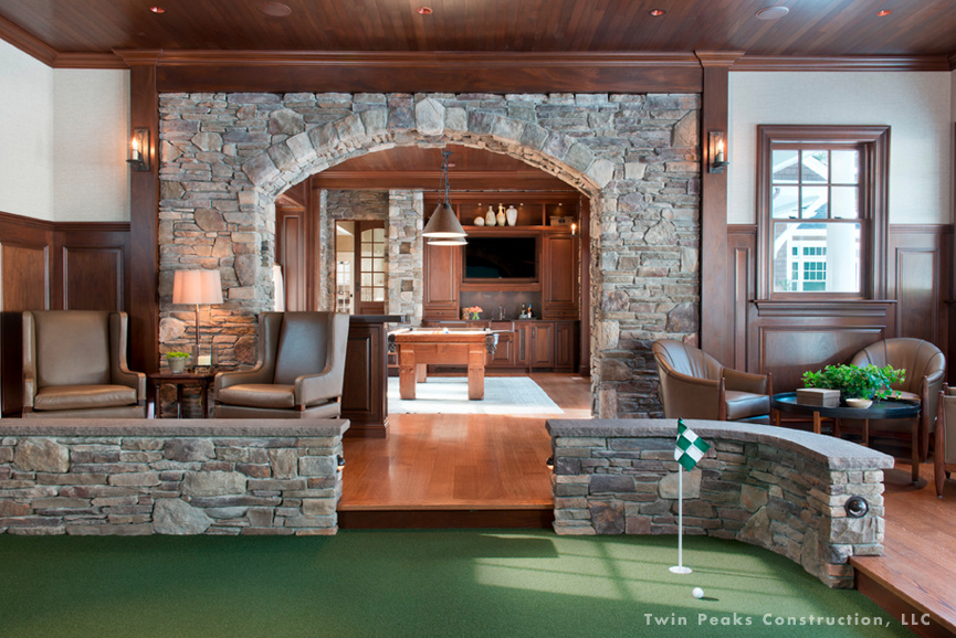 Man Cave Ideas Golf : Perfecting your man cave theme boston design guide
