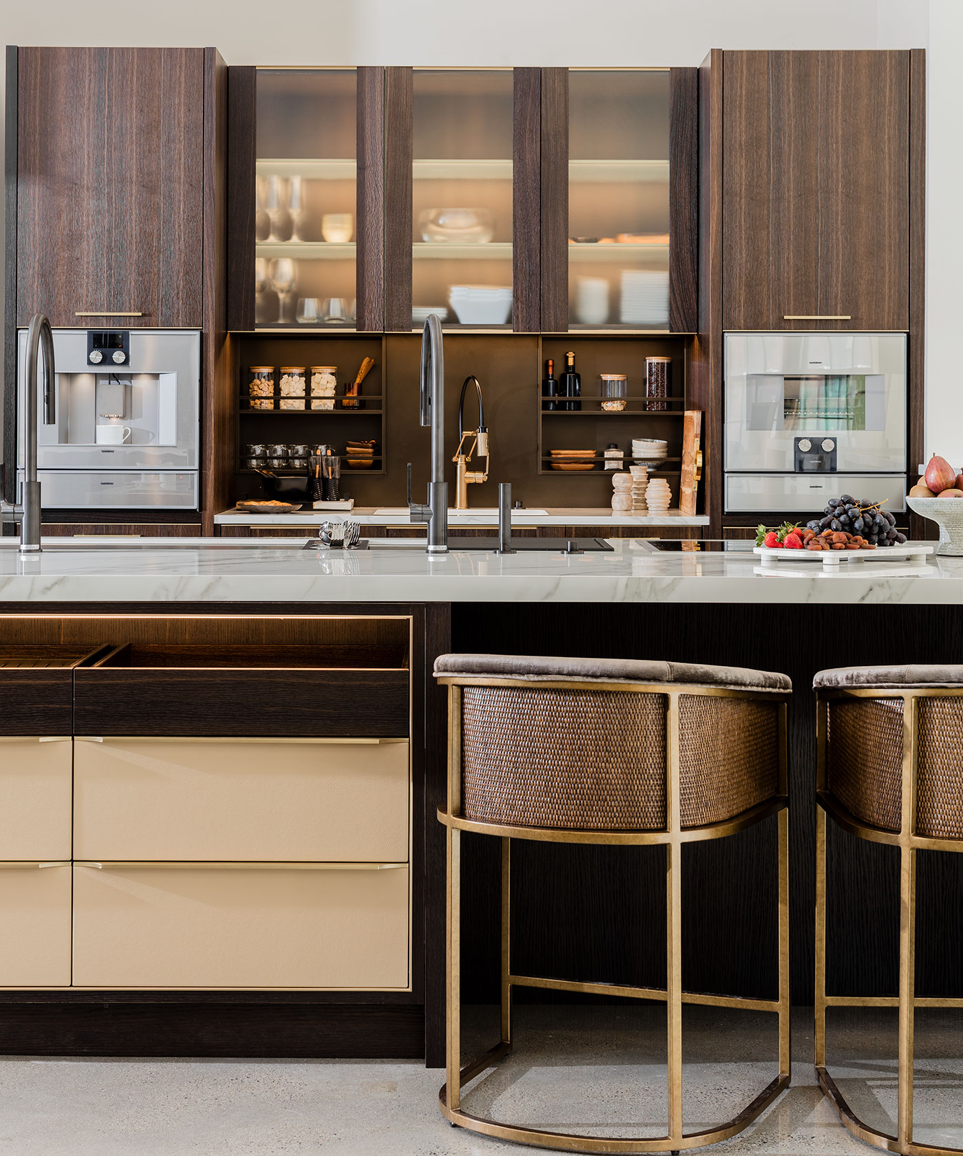 Custom kitchen designed for Venegas and Company showroom