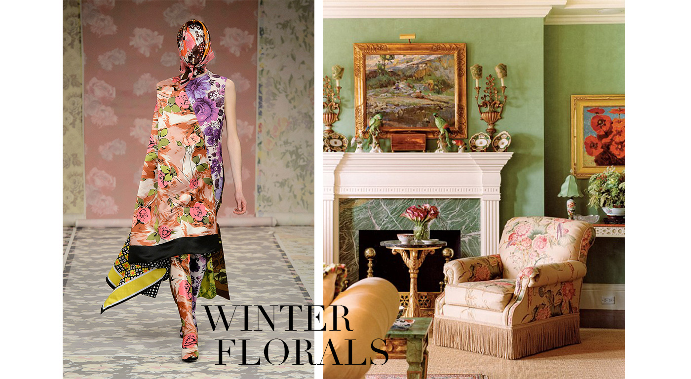 Fall Fashions in the Home, Winter Florals