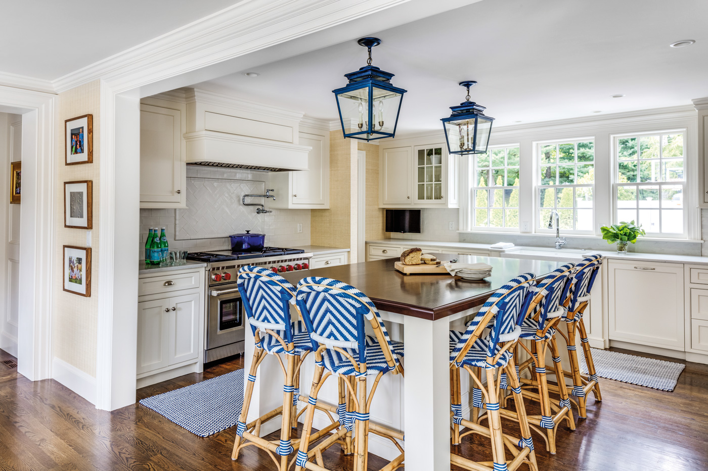 Custom kitchen renovation for a high-end suburban Boston home.