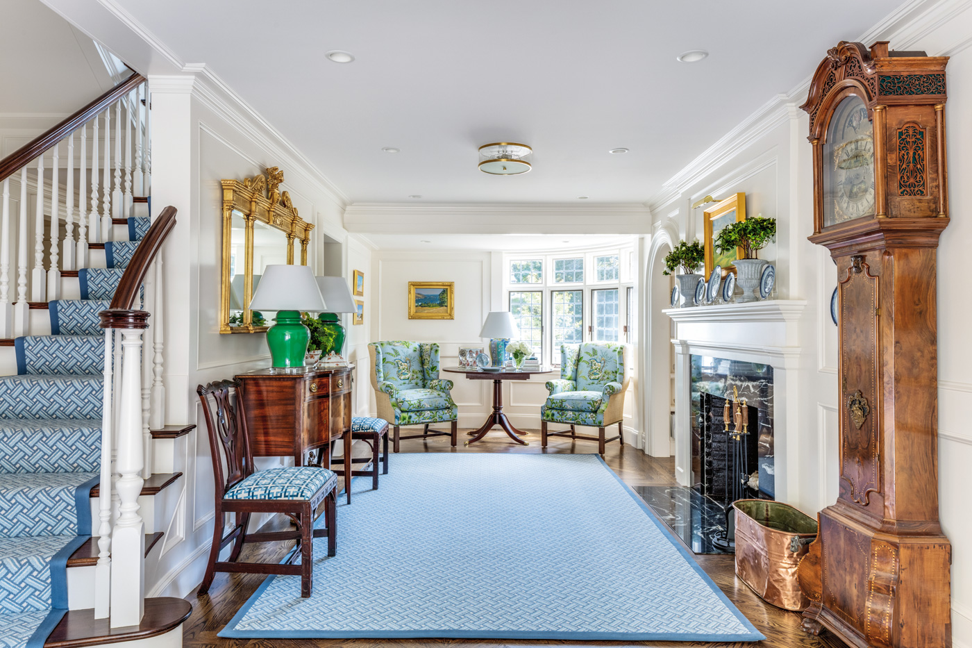 Reimagined front entryway for a high-end custom renovation