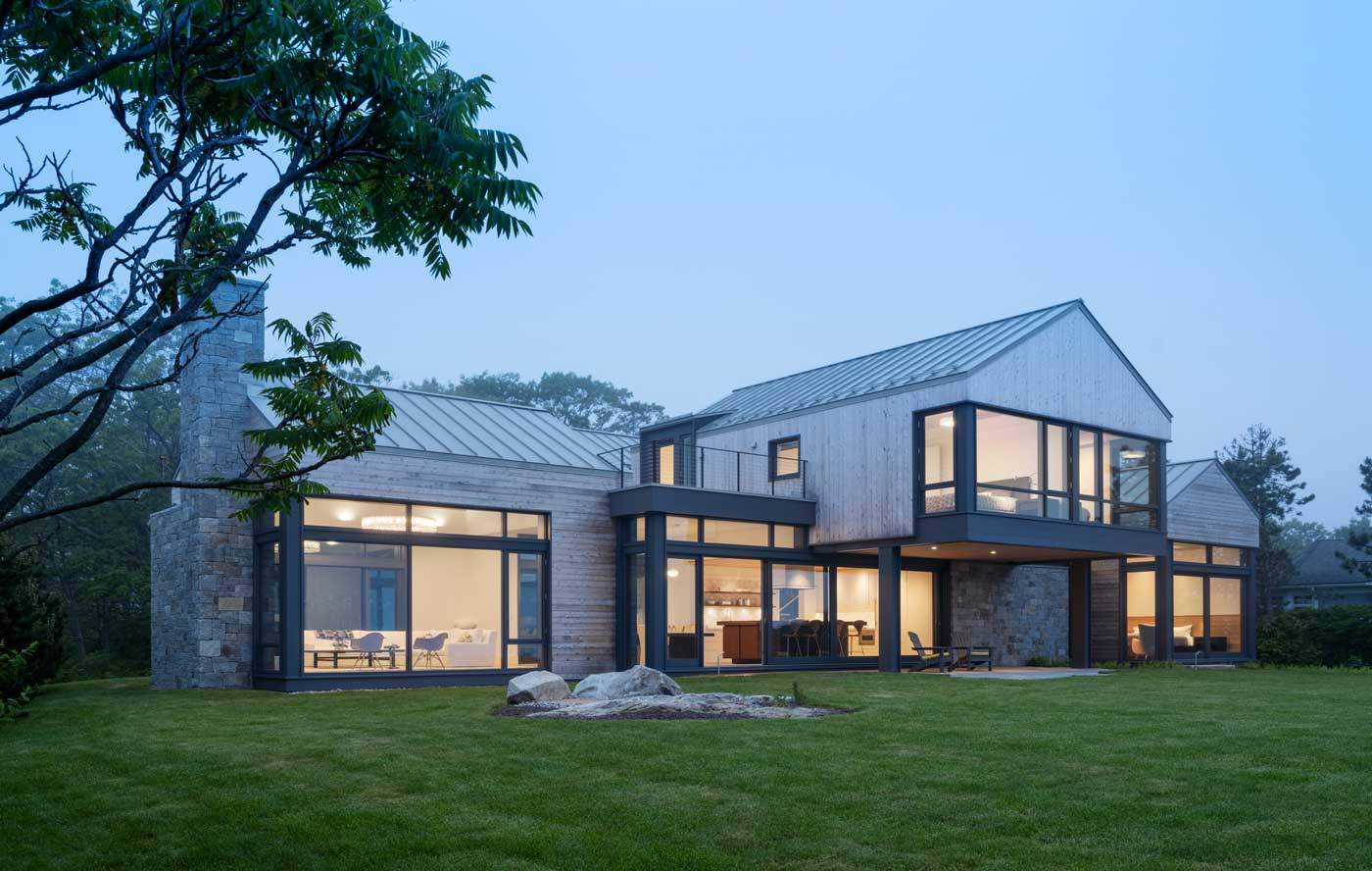 front view of modern house