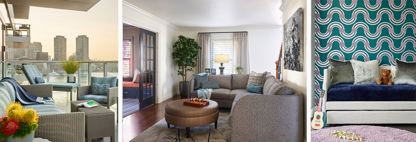 Living spaces by Interiology Design Co.