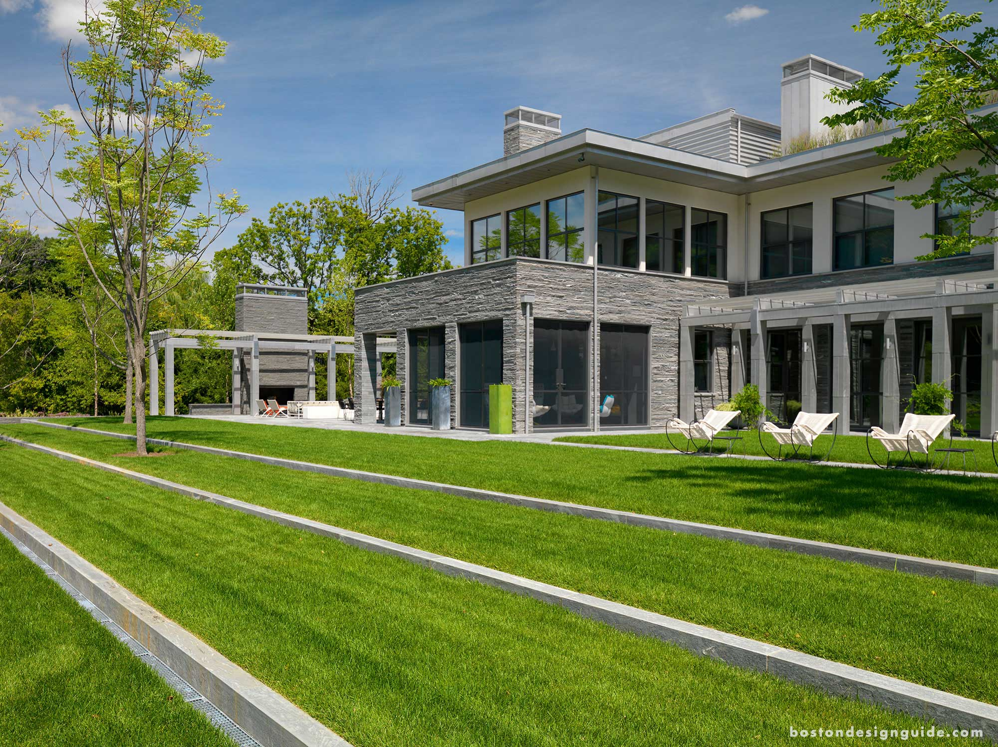 Landscape Contractor: R.P. Marzilli & Company; Builder: Thoughtforms; Architect: Adolfo Perez Architect; Home Automation: Creative Systems; Photography: Richard Mandelkorn