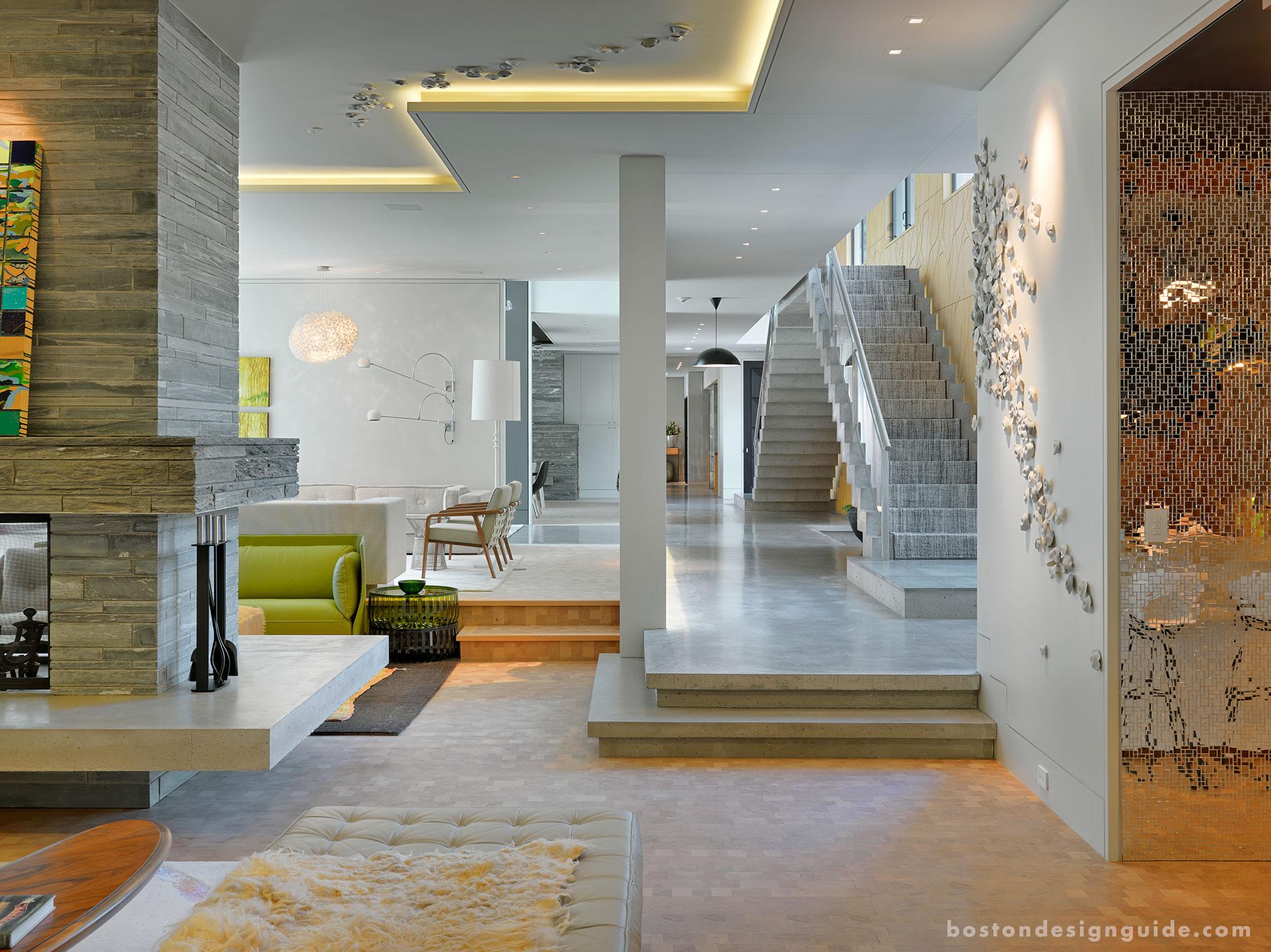 High-end contemporary living room