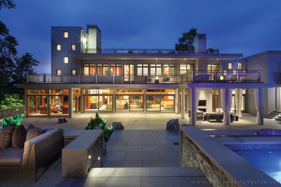 High-end contemporary New England home