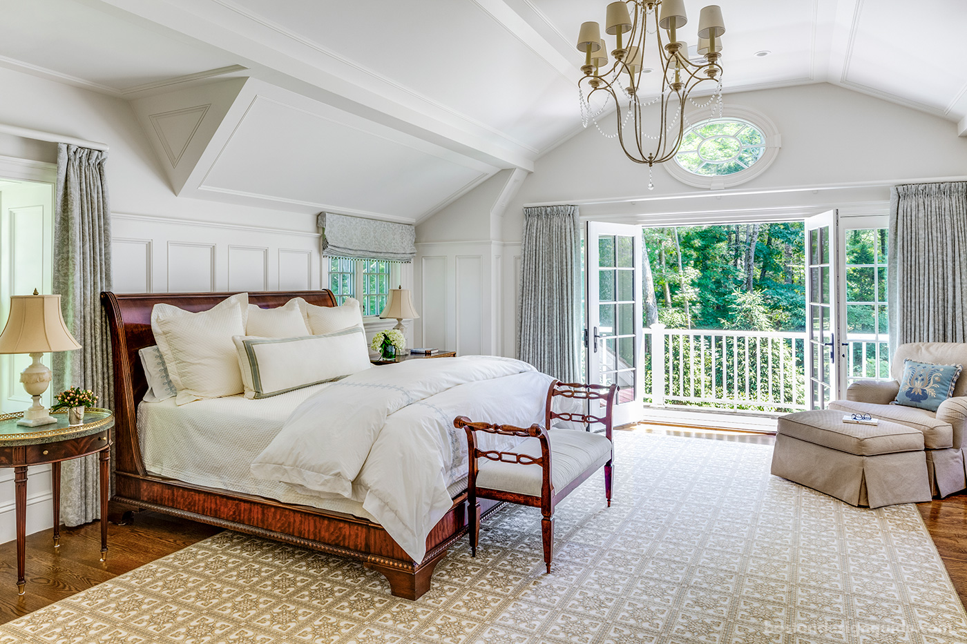 Master bedroom suite with outdoor connection