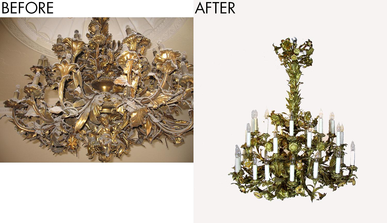 reused antique lighting