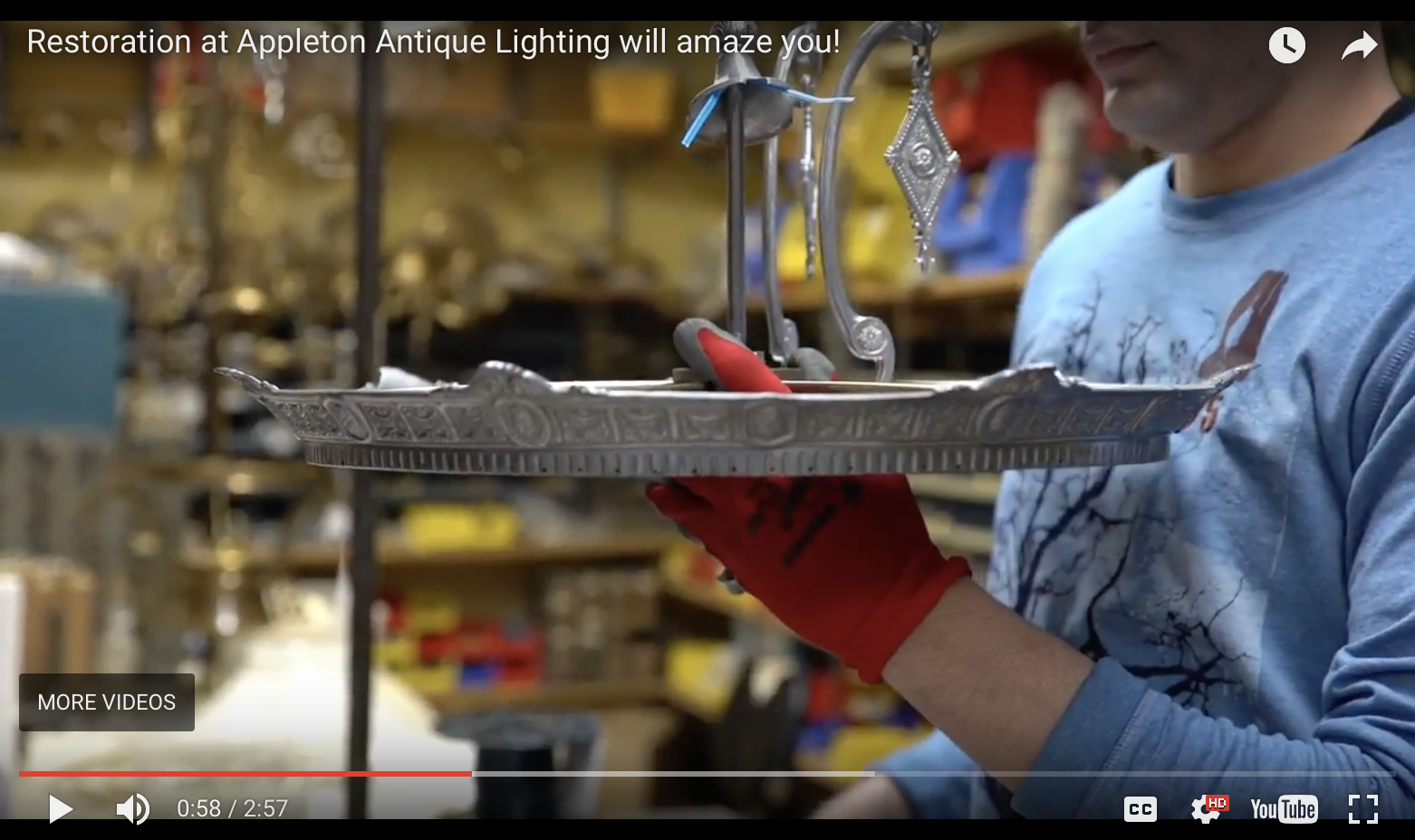 antique lighting restoration professionals in New England