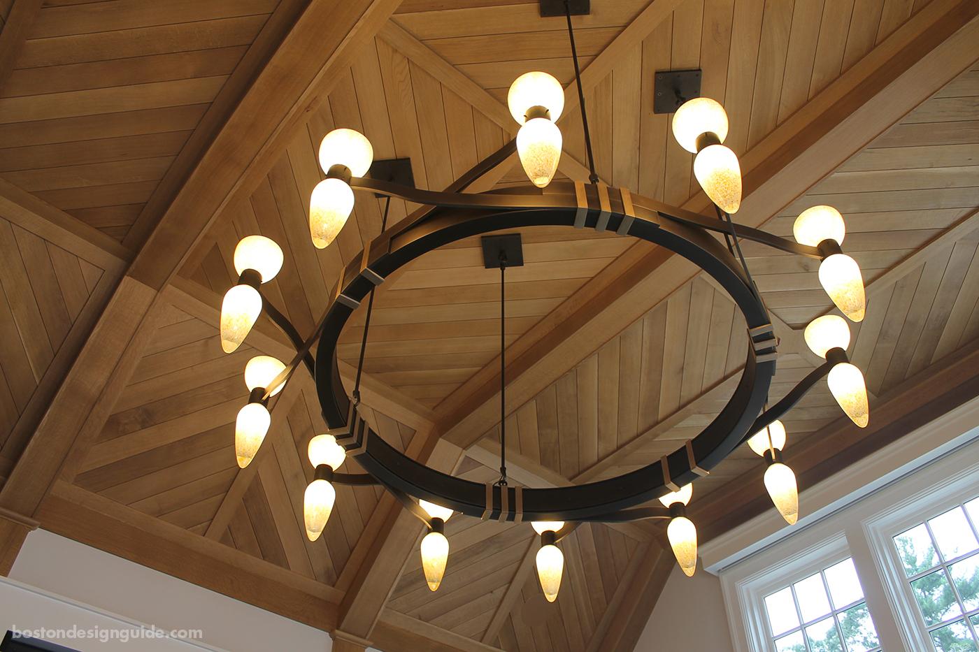 Custom metal chandelier