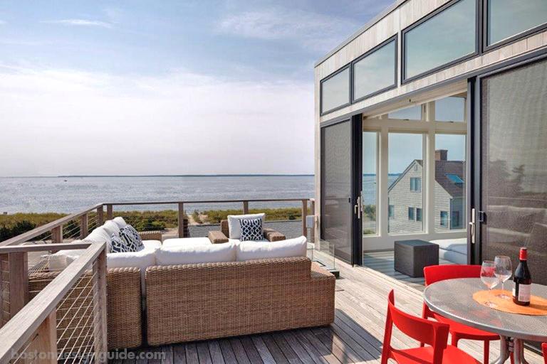 Upside-down beach house