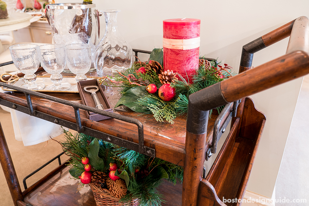 holiday decor bar cart furniture