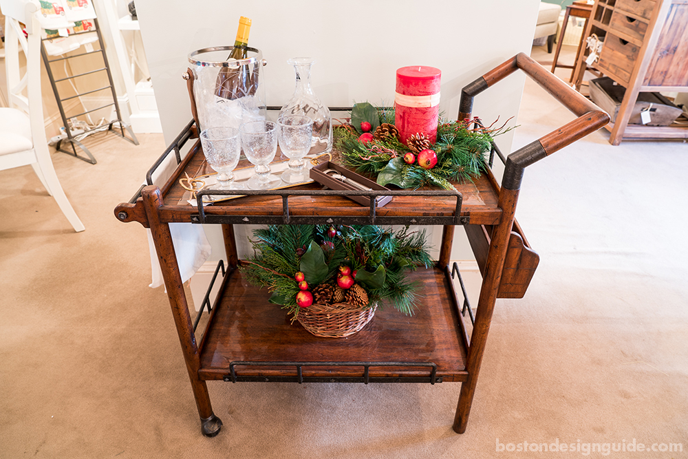 festive holiday bar carts