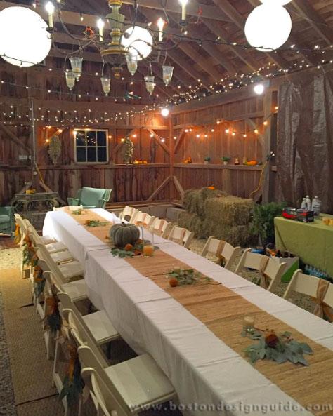 Beautiful Barn Thanksgiving