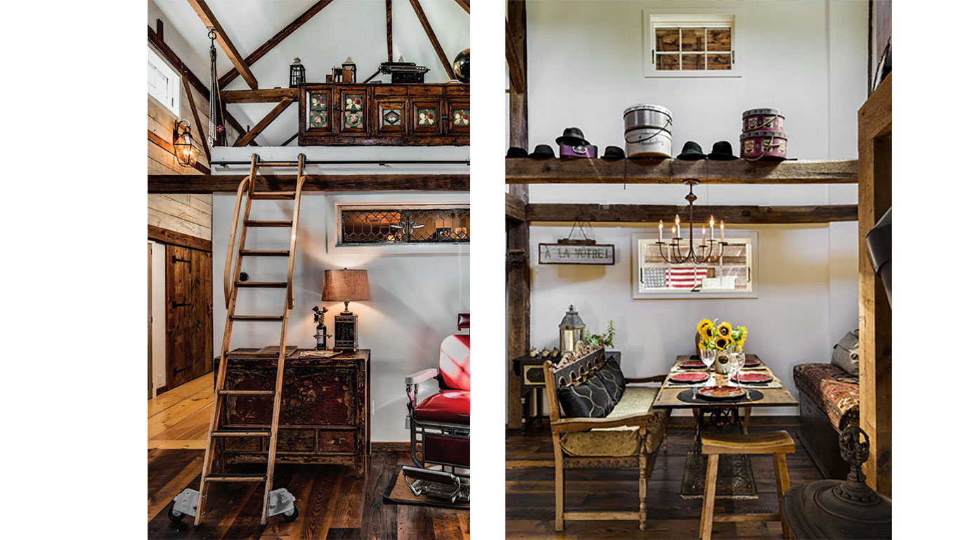 Barn house renovation with vintage decorating