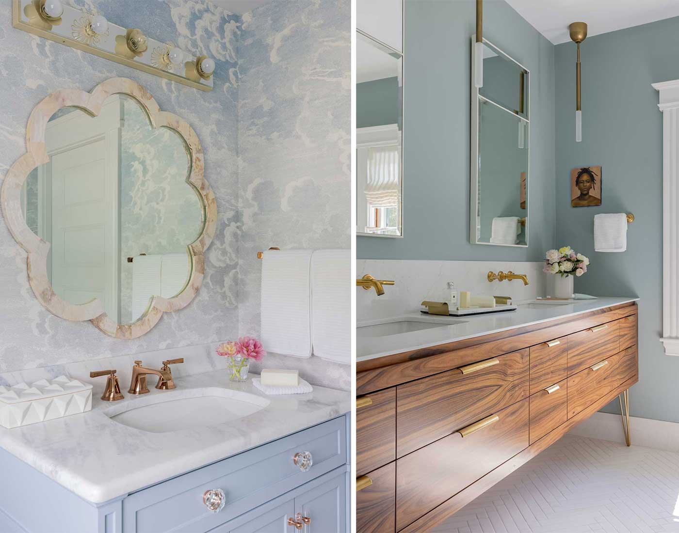 images of 2 bathrooms