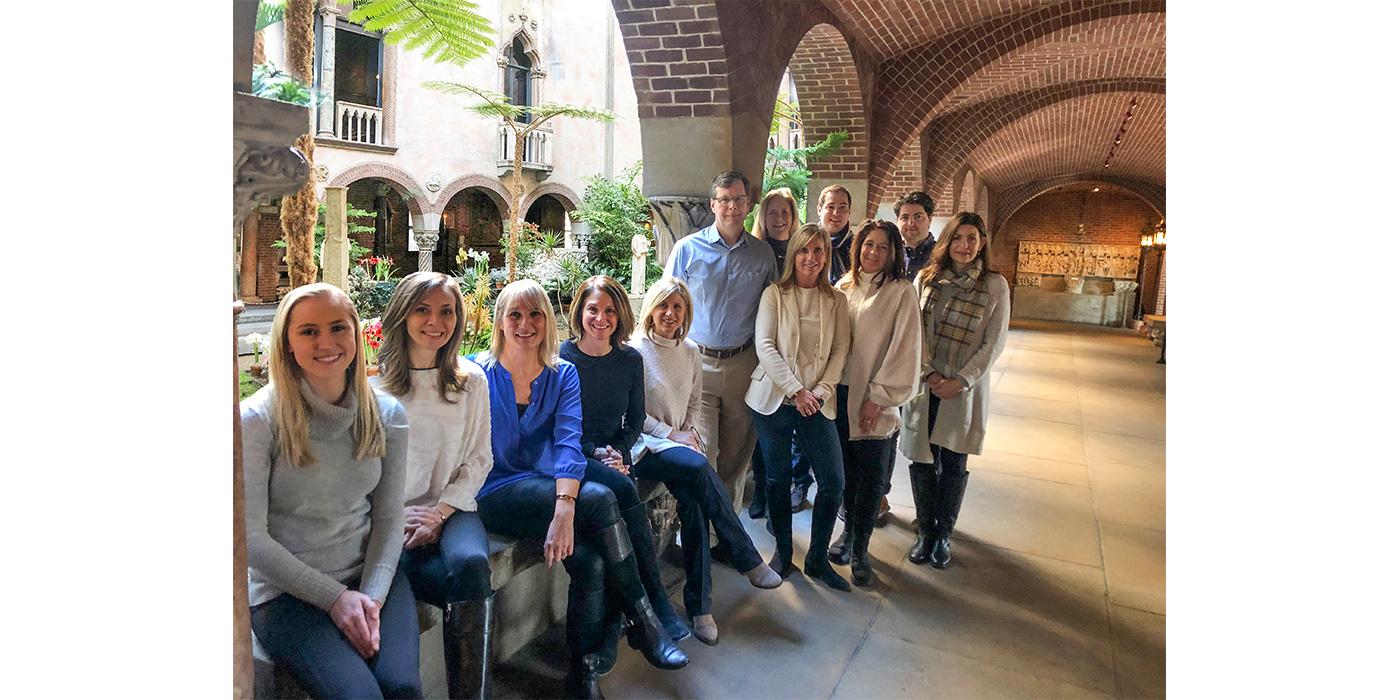 The Boston Design Guide staff at the Isabella Stewart Gardner Museum