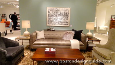 Furniture Setting At Newly Renovated And Expanded Mitchell  (Sofa From Mitchell  Gold + Bob Williams Kennedy ...