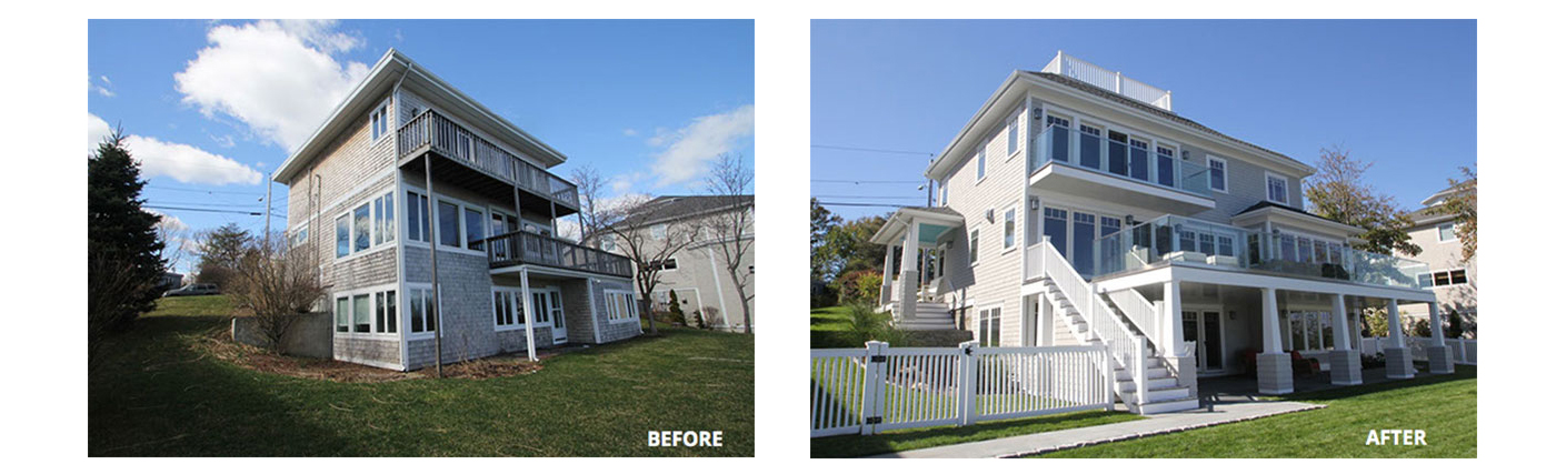 Boston home renovation: before and after
