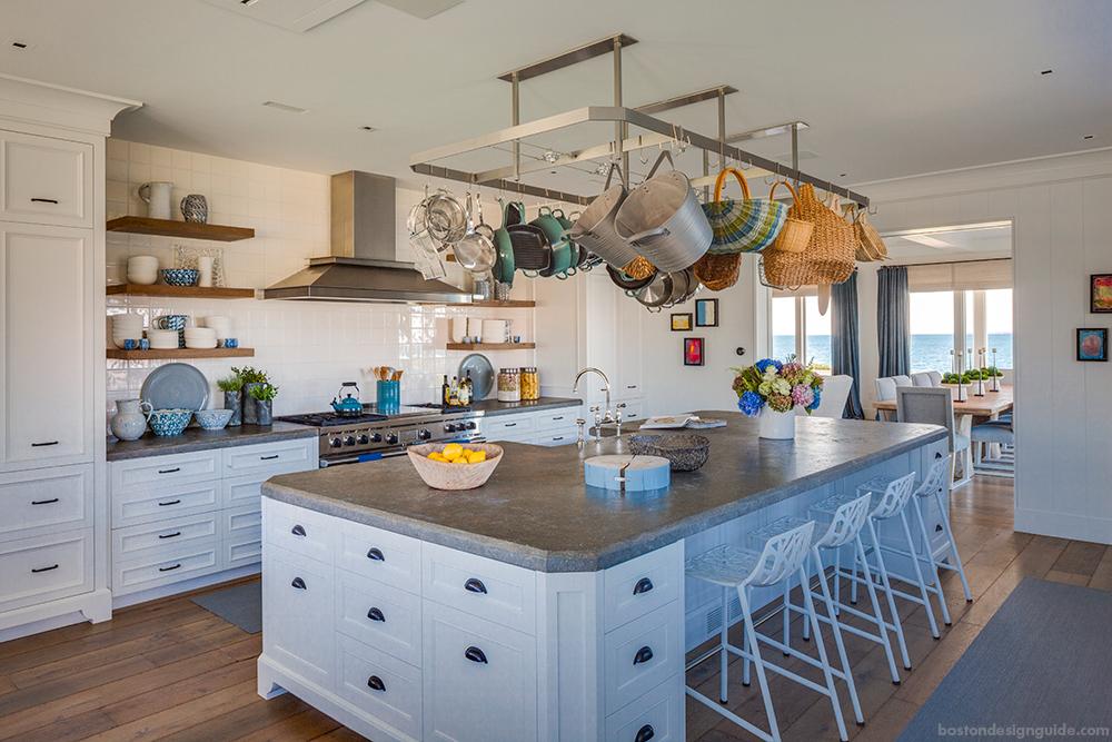 New England Beach Home Kitchen Design