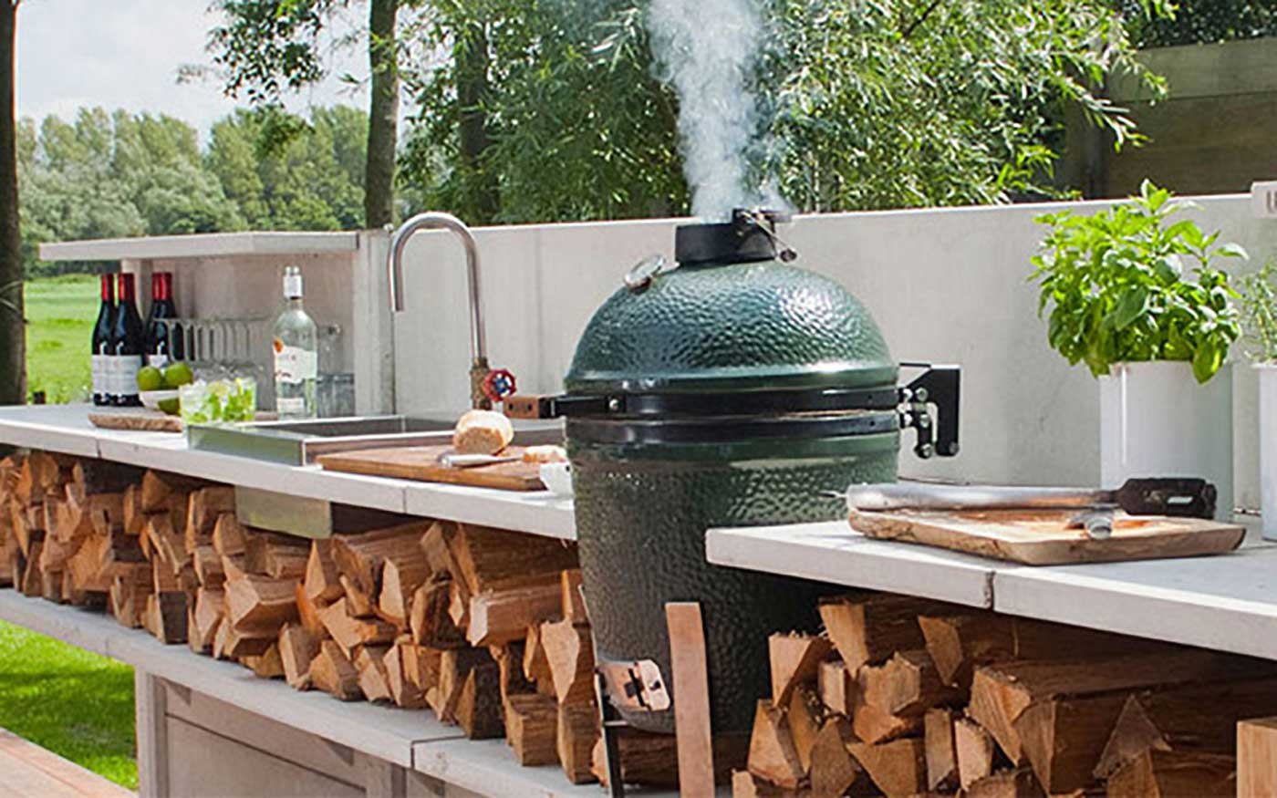 Big Green Egg grill at Wayland Home and Design
