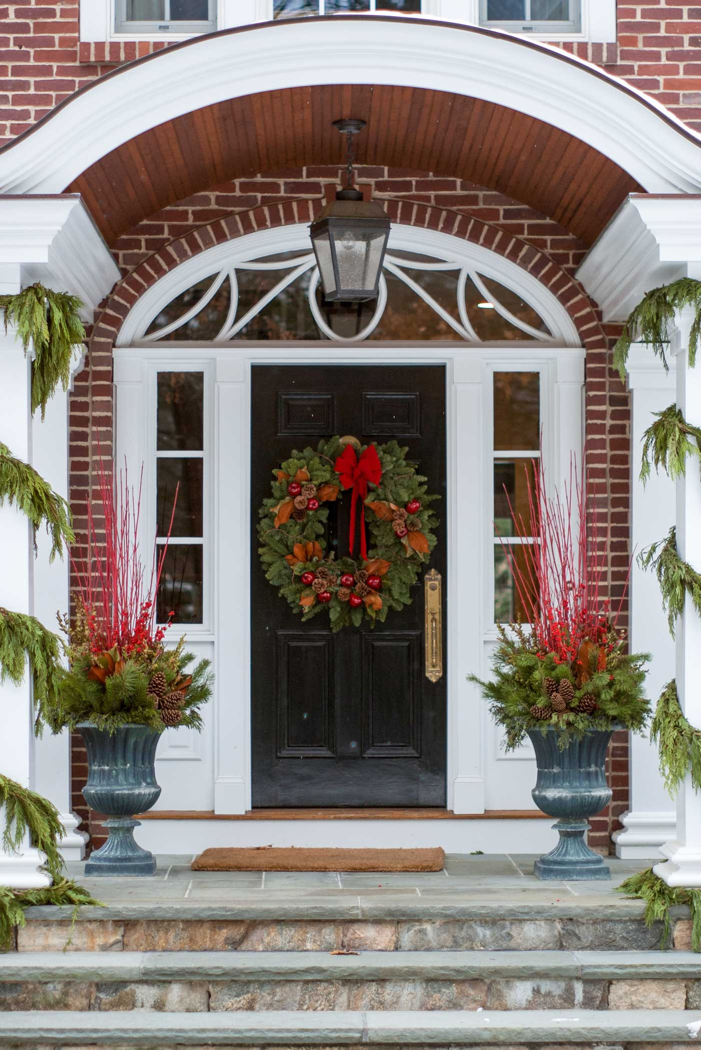 Door decorated for the holidays