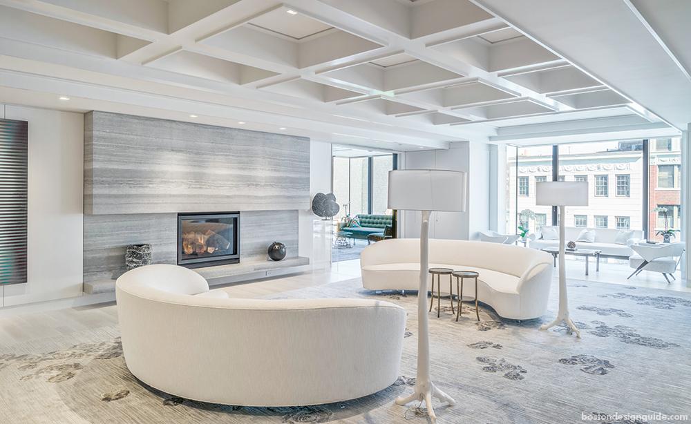 modern home living in Boston