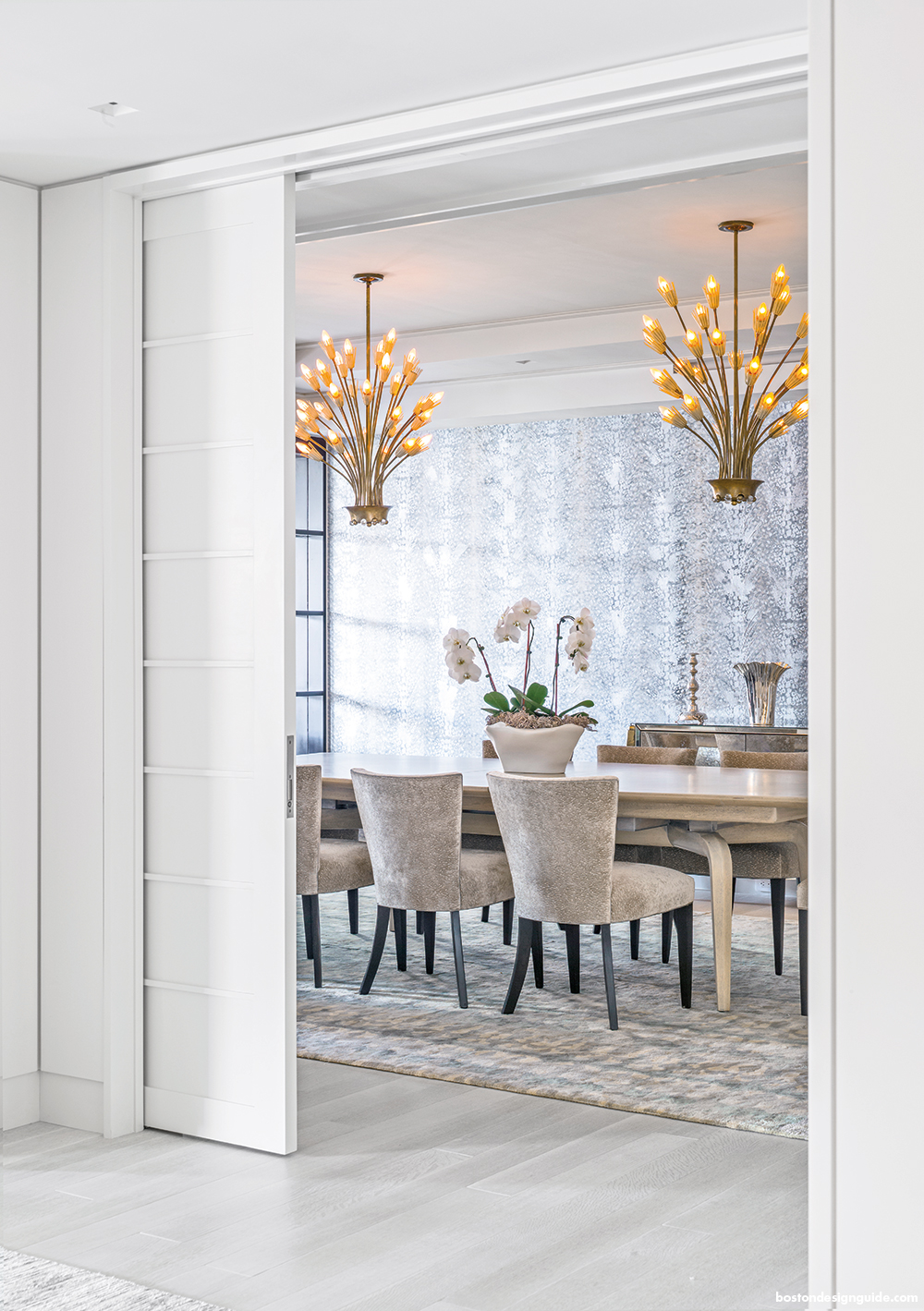 gorgeous dining room in high-end condominium