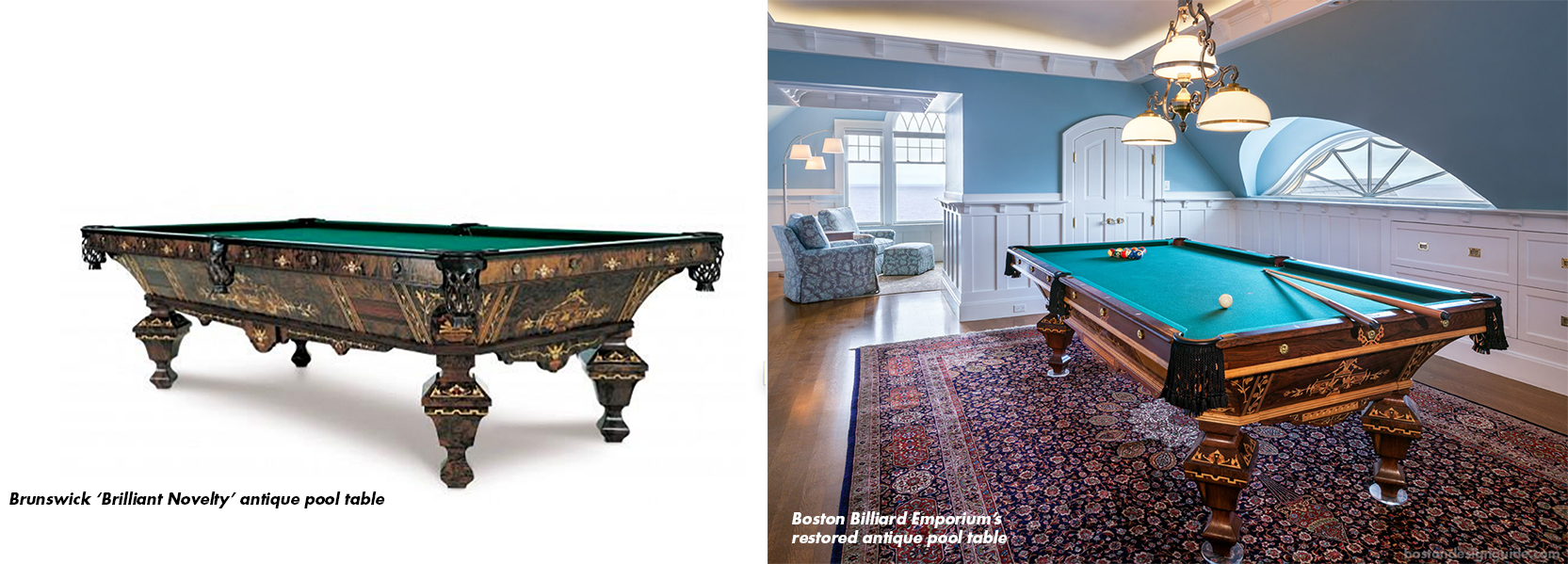 Genial Antique Pool Table Restoration